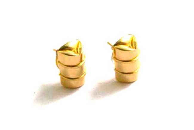 Genesis Bass Drum Gold Earrings