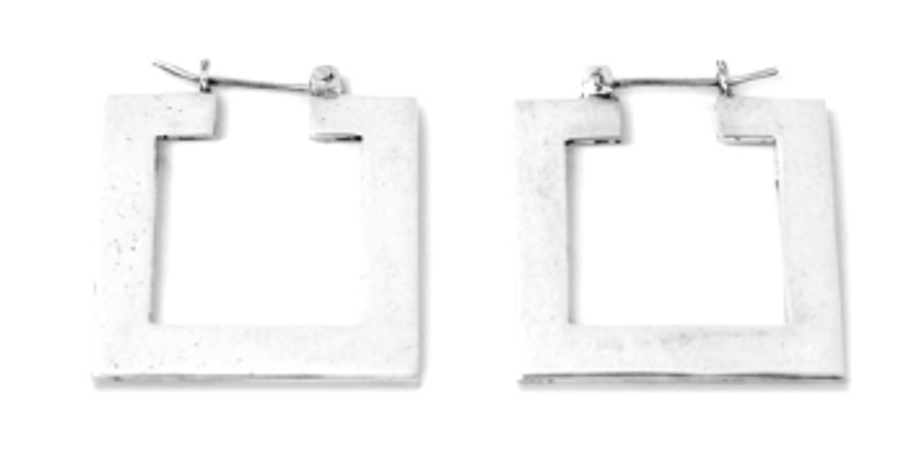 Movement Rack Square Hoop Earrings