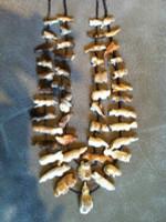Zuni Two Strand Multi-Animal Fetish Necklace Eddington Hannaweeke