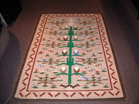 Navajo Indian Rug Tree Of Life Cleo Davis