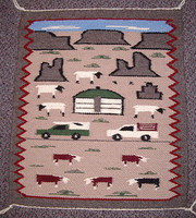 Navajo Indian Rug Pictoral NIRP4