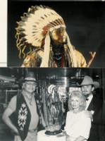 """BRONZE Don Baker ""Southern Cheyenne Chief"""