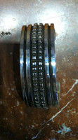 BRACELETS NAVAJO HEAVY WIDE LARGE STAMPED SILVER OVERLAY DOMED CUFF Elvira Bill_2