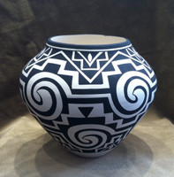 Pottery Acoma Black White Geometric Pattern Design Kathy Victorino_2