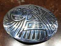 BELT BUCKLE HOPI EAGLE MOTIF Mitchell Sockyma