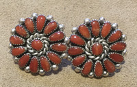 EARRINGS ZUNI CORAL CLUSTER Alice Quam SOLD