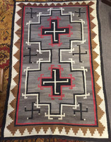 NAVAJO INDIAN RUG WHIRLING LOG PATTERN DESIGN