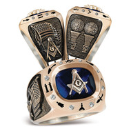 Masonic Birthstone Rings