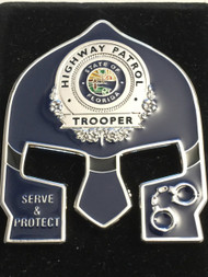 FHP WARRIOR FACE  TROOPER COIN - BLUE FACE  SILVER BADGE