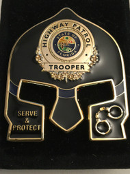 FHP WARRIOR COIN BLACK FACE GOLD BADGE