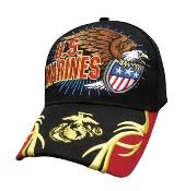 Military  Hat Marine Corps Eagle holding Shield & EGA on brim RARE