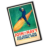 Vintage Join The Navy Sign