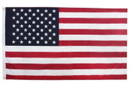 U.S. Poly Cotton Printed Indoor Decorative Display Flag - 3' x 5 '