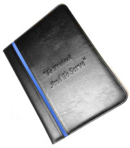 Thin Blue Line To Protect And To Serve Debossed Padfolio