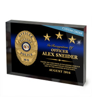 CUSTOM ACRYLIC BLOCK RECOGNITION AWARD (WPABGB) - PERSONALIZED