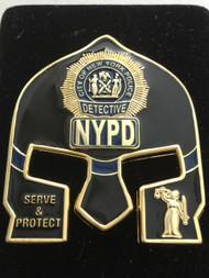 NYPD DETECTIVE  WARRIOR  BLACK FACE COIN