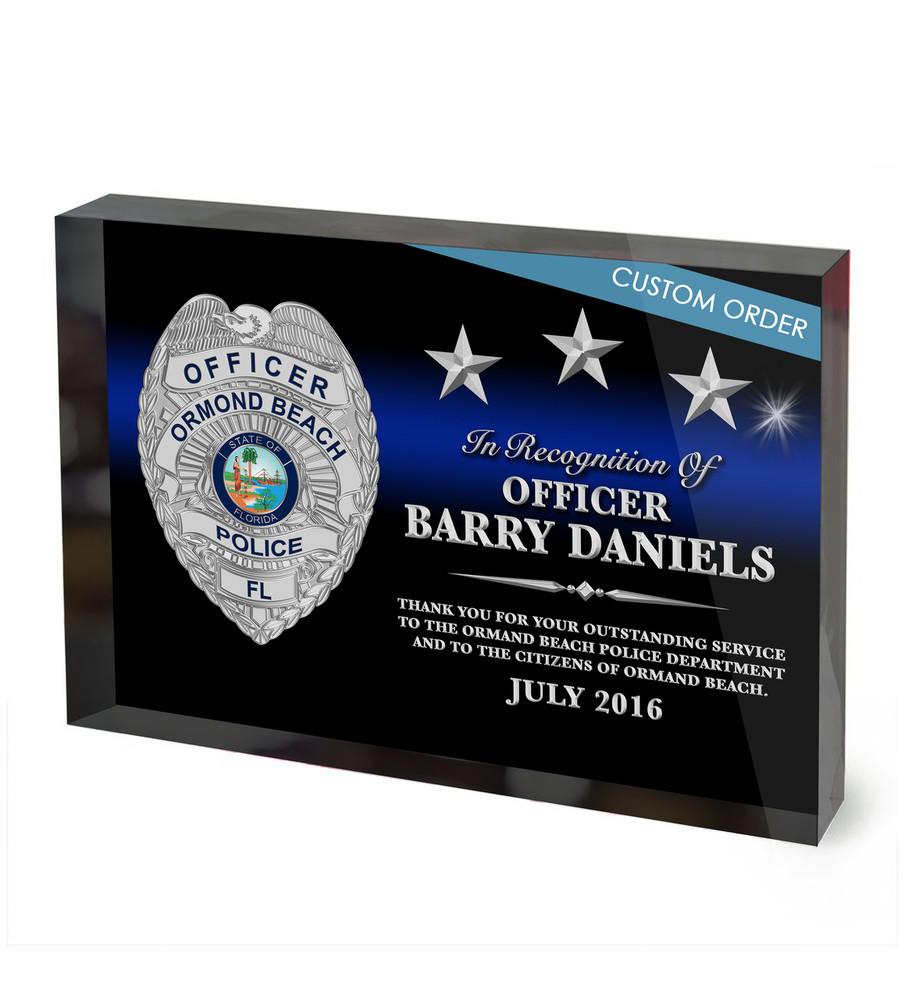 Custom Acrylic Block Recognition Award Wpabsb
