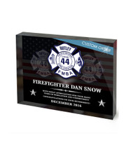 CUSTOM RECOGNITION ACRYLIC BLOCK (NRABF) - PERSONALIZED