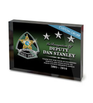 CUSTOM ACRYLIC BLOCK RECOGNITION AWARD (WPABGBK) - PERSONALIZED