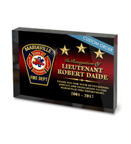 CUSTOM ACRYLIC BLOCK RECOGNITION AWARD (WPABGF) - PERSONALIZED