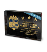 CUSTOM ACRYLIC BLOCK RECOGNITION AWARD (WPAGB) - PERSONALIZED