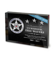 CUSTOM ACRYLIC BLOCK RECOGNITION AWARD (WPABGD) - PERSONALIZED