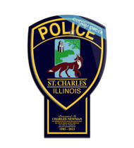 CUSTOM PATCH PLAQUE WITH BOTTOM TAB (Law Enforcement) - PERSONALIZED