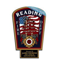 CUSTOM PATCH PLAQUE WITH BOTTOM TAB (Fire Rescue & EMS) - PERSONALIZED