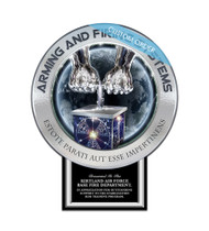 CUSTOM PATCH PLAQUE WITH BOTTOM TAB (Government) - PERSONALIZED
