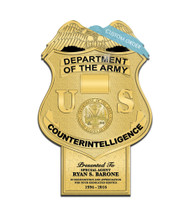 CUSTOM BADGE PLAQUE WITH BOTTOM TAB (Military) - PERSONALIZED