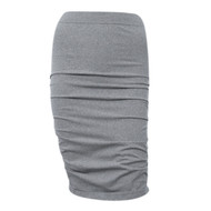 Sock Café Body PK1 Seamless Ruched Skirt - Grey Marle