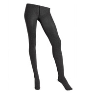 Sock Café Womens PK1 3 Dimensional 120 Denier Opaque Tights - Charcoal