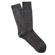 Sock Cafe Mens PK1 cotton contemporary Brooklyn Block crew socks in charcoal marle