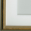 Double white mount with standard gold frame