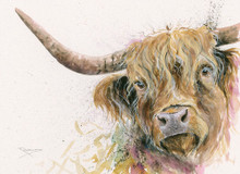 Highland Cow painting by Kay Johns