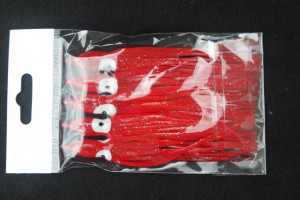 Our hallmark product, plastic squid skirts, seemingly simple but complex.  Ours are the very finest available being patterned after Japanese high end hand poured squids using the very finest and most expensive resins from JVC and glow paint from Germany - these are sure to the be the foundation of super lures for all types of fish from Fluke to Sea Bass and Cod. Also makes great bonita trolling rigs