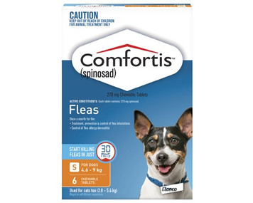 Comfortis for Dogs 10.1-20 lbs (4.6-9 kgs) - 6 Pack - Orange