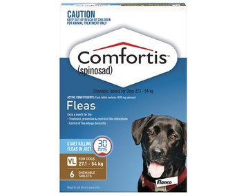 Comfortis for Dogs 60.1-120 lbs (27.1-54 kgs) - 6 Pack - Brown