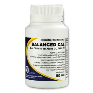 Dog & Cat Balanced Cal Tablets - 100 Tabs