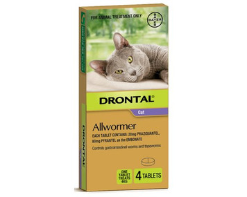 Drontal for Cats 4 Pack