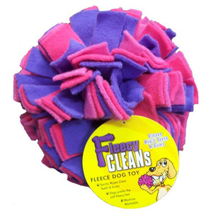Fleecy Cleans Dog Ball - Large