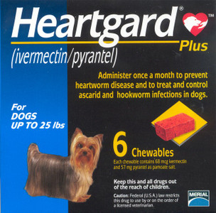 Heartgard Plus for Dogs up to 25 lbs (up to 11 kgs) - Blue - 6 Pack