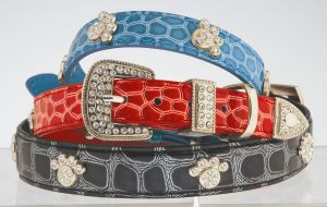 "Max & Bella Diamond Paws Collar - Medium - 6/8"" x 18"" (2cm x 45cm)"