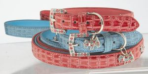 "Max & Bella Diamond Pups Collar - Medium - 6/8"" x 18"" (2cm x 45cm)"