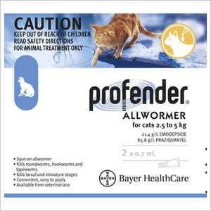 Profender for Small Cats 5.5-11 lbs (2.5-5 kg) - 2 Pack - Blue
