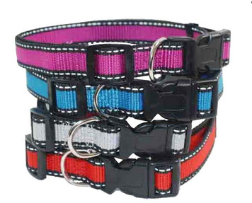 "Reflective Neoprene Dog Collar - Small (5/8"" x 12""-17"")"