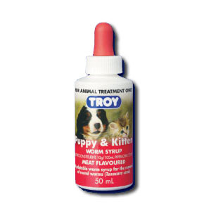 Troy Puppy & Kitten Meat Flavored Worm Syrup - 1.7oz (50ml)