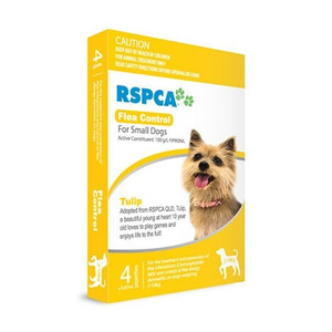 RSPCA Flea Control for Small Dogs 4-22lbs (2-10kg) - 12 Pack - Yellow