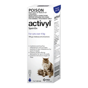 Activyl for Cats over 9 lbs (over 4 kg) - Single Dose - Dark Blue
