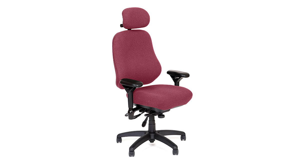 High back chair design provides more support for tall users